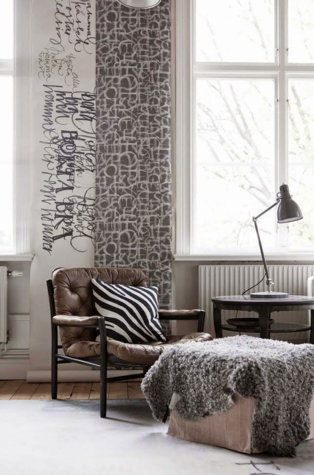 Swedish calligrapher Ylva Skarp's cosy winter home