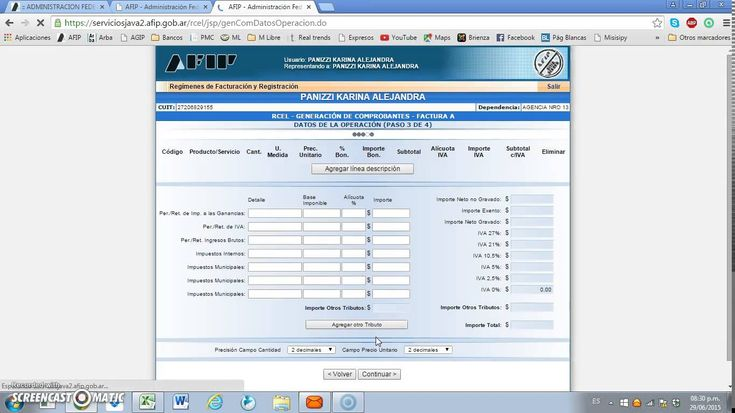 Como hacer factura electronica en linea en pagina de Afip
