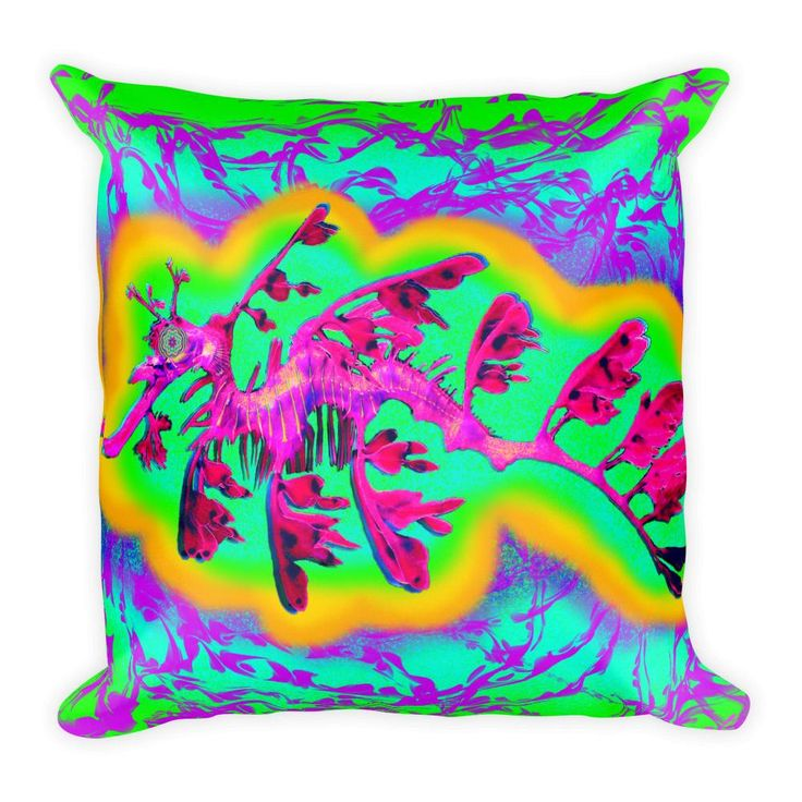 Seattle Sea Dragon by pwrflwr Square Pillow
