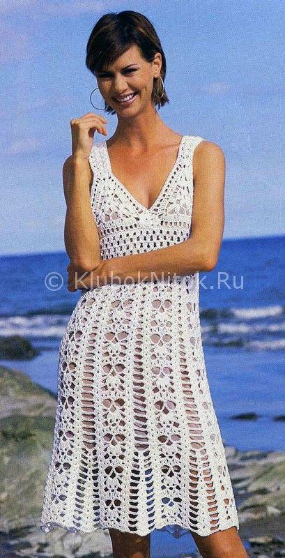 Милое платье   Вязание для женщин   Вязание спицами и крючком. Схемы вязания.