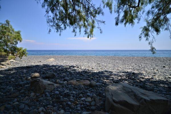 The only shadow, Mavros Gialos beach