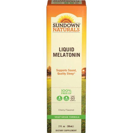 Sundown Naturals Melatonin Liquid Nighttime Sleep Aid Cherry, 2.0 FL OZ, Multicolor