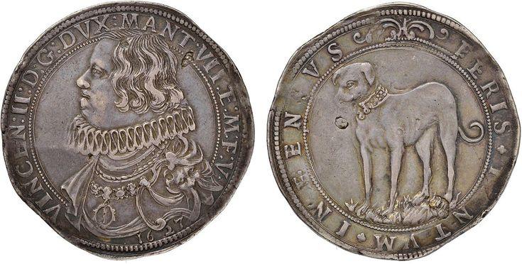 NumisBids: Nomisma Spa Auction 50, Lot 119 : MANTOVA Vincenzo II Gonzaga (1627) Ducatone 1627 – MIR 623/2 AG (g...