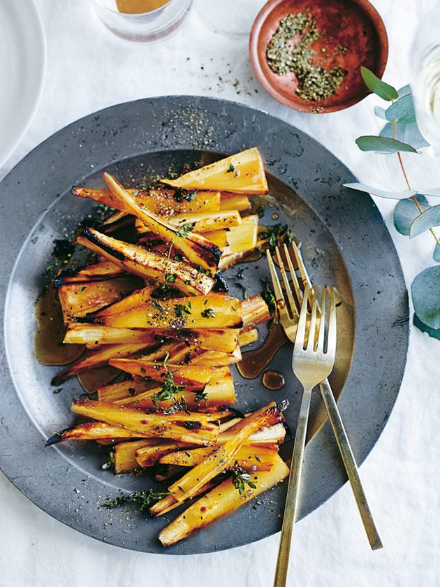Thyme And Champagne Roasted Parsnips | Donna Hay