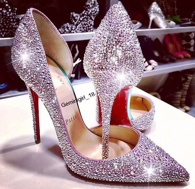 562b551bae22 Glitter Black Red Pink Crystal Pumps Top Vague Platform Pumps Formal Louboutin  Shoes