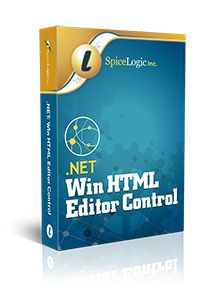 Spicelogic .NET Win HTML Editor Control 7.0.5.0