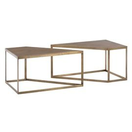 Austin Cocktail Table, Set Of 2  Contemporary, MidCentury  Modern, Metal, Coffee  Cocktail Table by Arteriors