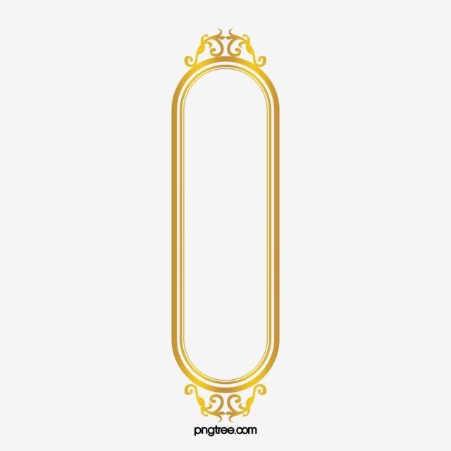 إطار المستطيل الذهبي ذهبي مشبك خالية تزين Png وملف Psd للتحميل مجانا Frame Graphic Design Background Templates Rectangle