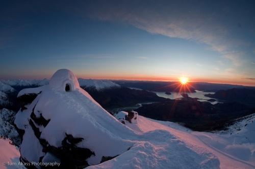 Treble Cone Summit Iglo. ©Tom Akass Photography