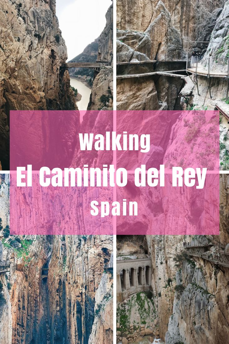 Walking El Caminito del Rey in Costa del Sol, Spain needs to be on your bucket list! This used to be one of the most dangerous walks in the world but is now pretty easy - but still magnificent.  #Hiking #Spaintravel