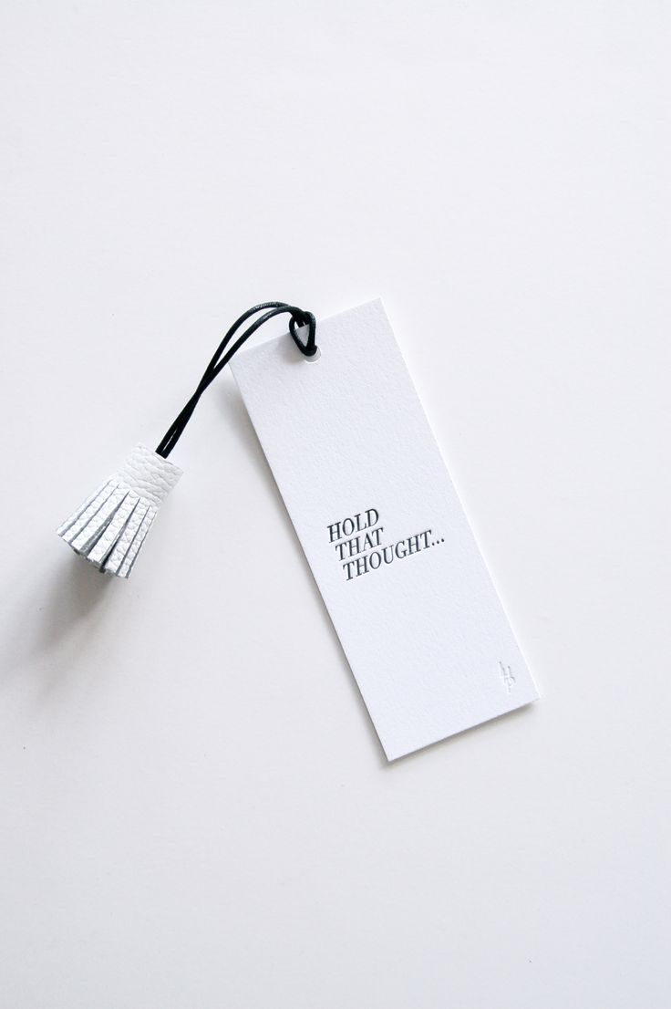 Literary Luxe: Letterpress Printed Place Holder from In Haus Press