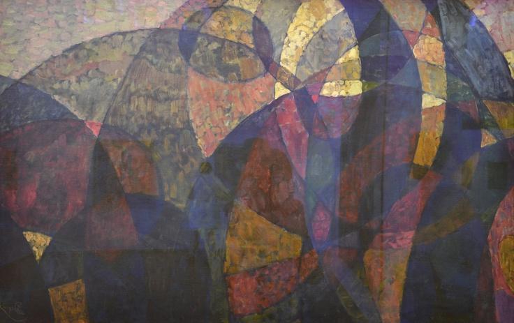 """Kupka, """"Étude pour Amorpha, fugue à deux couleurs et pour Amorpha, chromatique chaude"""", 1911-1912. Centre Pompidou. Foto tomada por María Teresa Rodríguez"""