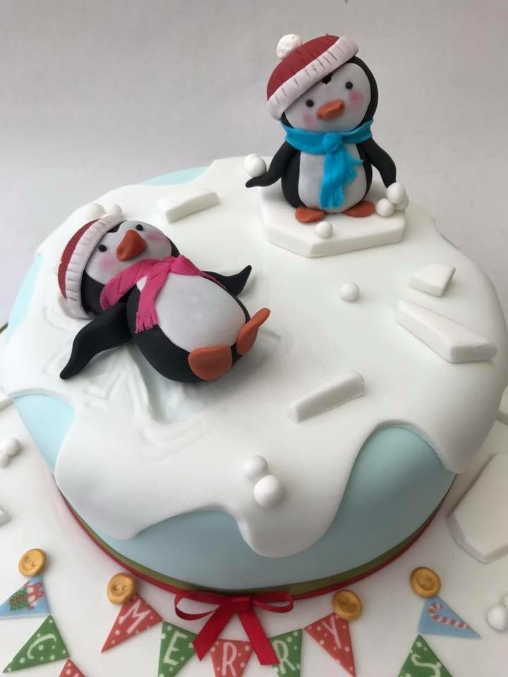 Christmas Penguin Snow Angel Cake Design With Images
