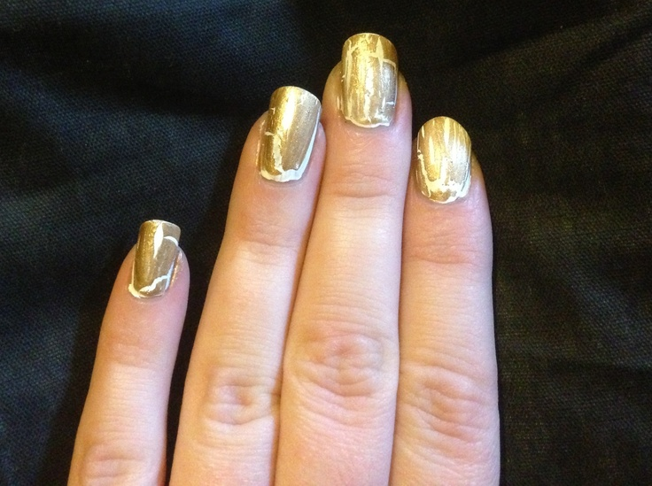 Gold & white crackle