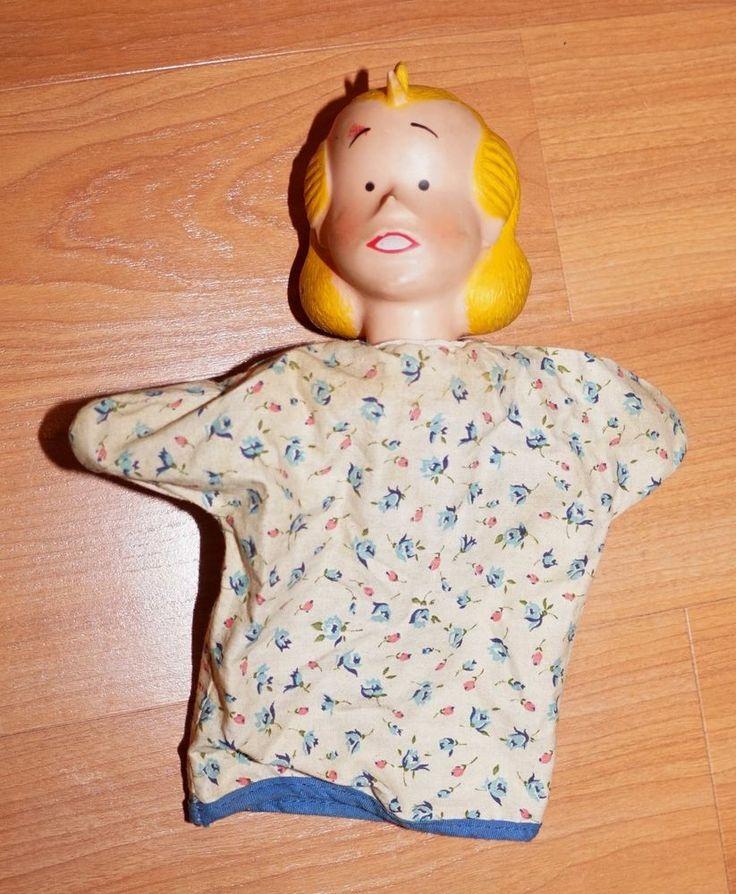Dennis The Menace Mom Alice Mitchell Mother Hand Puppet Vintage 1950/60's? - JB #DennisPlay