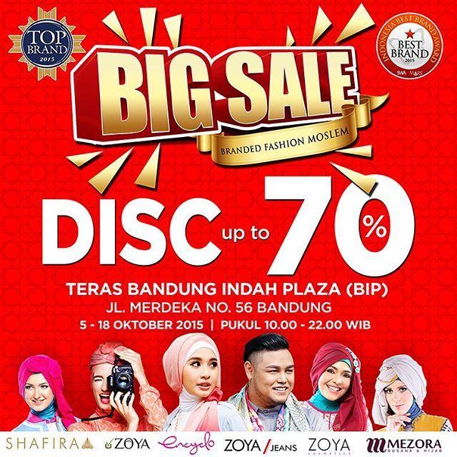 Halo, Sahabat Mezora Bandung! Datang yuk ke Teras Bandung Indah Plaza (BIP). Ada diskon hingga 70% untuk produk-produk Mezora favoritmu. Diskon ini hanya berlaku sampai tanggal 18 Oktober 2015 loh. Yuk, jangan sampai ketinggalan!