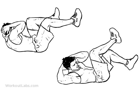 bicycle crunches air