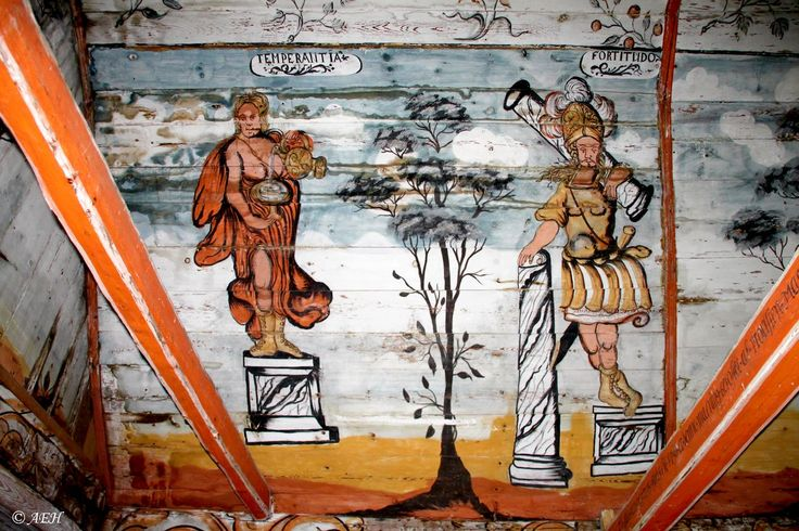 Rogaland - Hjelmeland - Årdal Gamle Kirke - To av kardinaldydene
