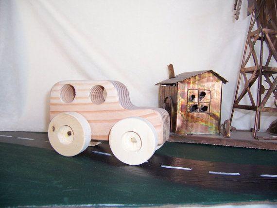 Toy Big Wheel SUV 4x4  Handmade from Upcycled by Tigerseyecrafts, $15.00
