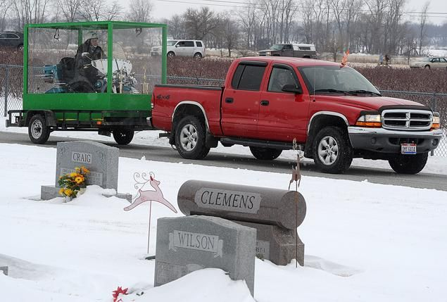 Standley's dying wish to be buried with his Harley-Davidson motorcycle was fulfilled by his adoring family.