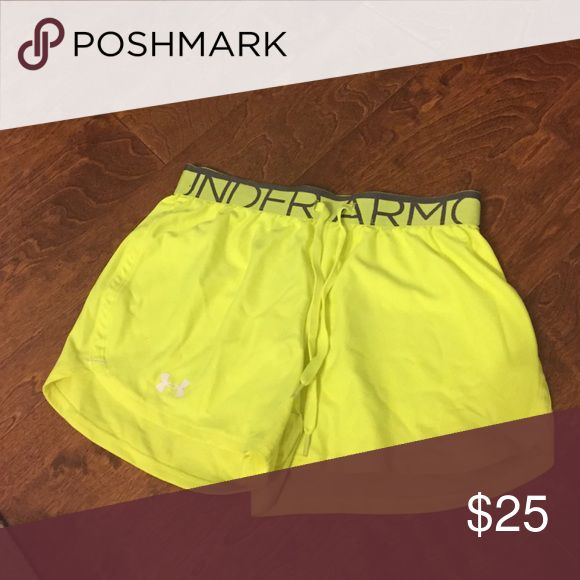 Under armour shorts! Neon yellow Under Armour Shorts