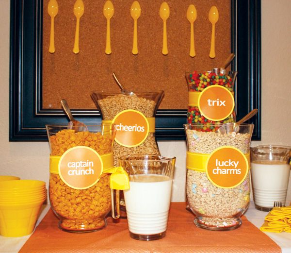 Cereal bar and brunch ideas