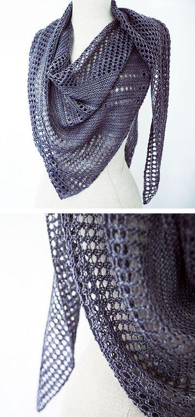 Ravelry: Antarktis shawl in Kettle Yarn Co. Islington - knitting pattern by Janina Kallio.