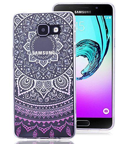 Roreikes Coque pour Samsung Galaxy A5 (2016) A510F, Crystal Case Cover Silicone TPU avec Indian Sun Conception de couverture de cas…