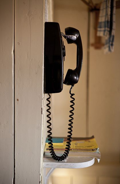 only one phone in most households and usually in the kitchen - always replacing the stretched out cord!