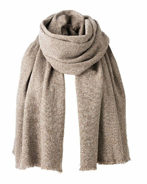 Natural 100% cashmere scarf, several colours
