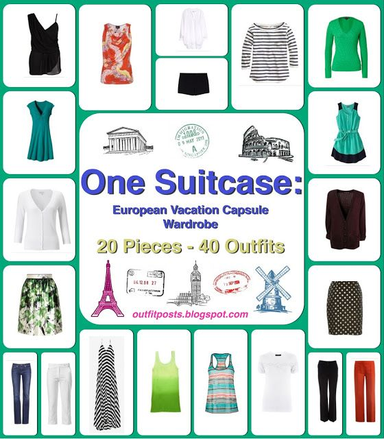 Outfit Posts: one suitcase: european vacation capsule wardrobe