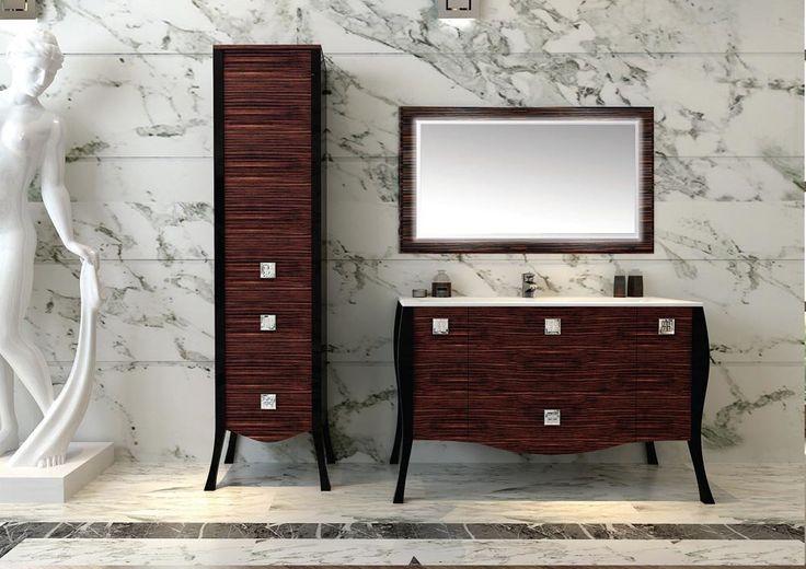 Итальянцы всегда предпочитали #мебель из благородного темного дерева. 🙈 Темные тона отлично гармонируют со светлым керамическим напольным покрытием и белоснежной раковиной. При обустройстве своей ванной комнаты, задумайтесь над тем, чтобы заказать мебель именно темного цвета! 📜 http://santehnika-tut.ru/mebel-dlya-vannoj/