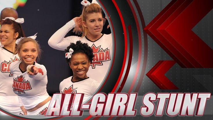 TEAM CANADA CHEERLEADING 2013  - ALL-GIRL STUNT (10/12)