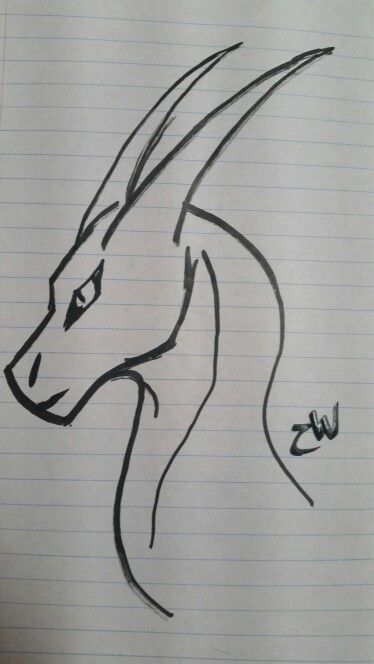 dragon simple drawings drawing head easy sketch pencil draw cool sketches step tattoo dragons magic cartoon flowers tattoos dog paint