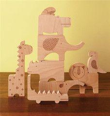safaridieren houten - Petit Collage - De Kleine Vogelaar
