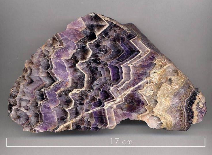 Beautiful Chevron Amethyst from Cunnersdorf, Saxony, Germany.photo: Thomas Banach  Geology Wonders