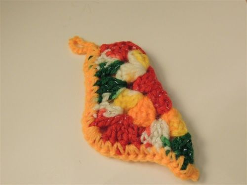 Holiday - HC00290 - Christmas Ornament - Vintage Granny square Mini stocking