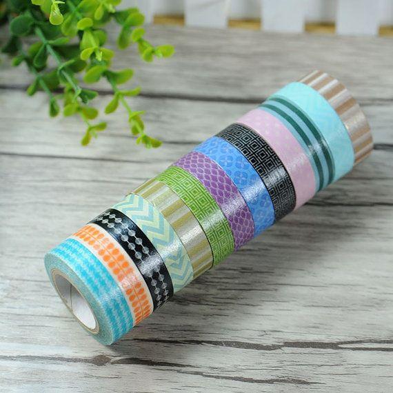 Washi Tape Rolls  10m Slim Washi Tape by AaishasCreativeMess