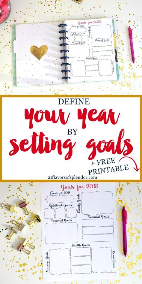 Take this free printable, look at the different areas of your life, & set goals for them #goals #printable #goalsetting #growth