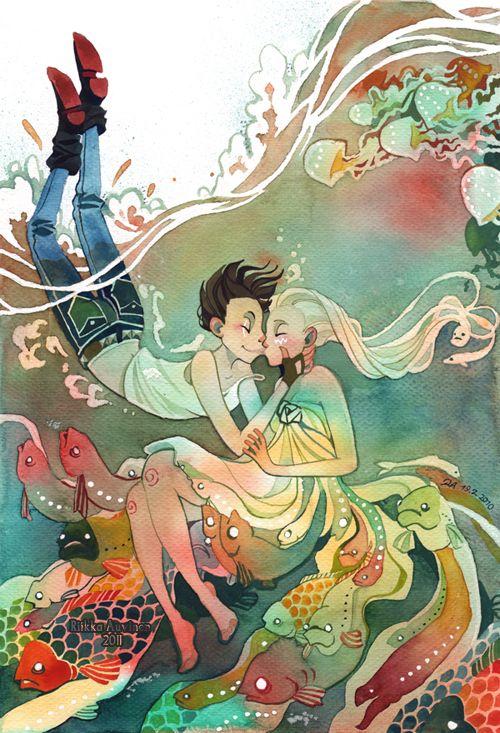 Watercolor-Riikka Auvinen.  Source: tir-ri.deviantart.com