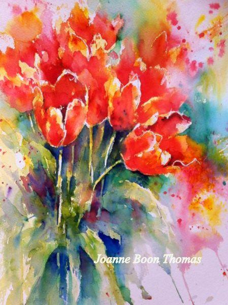 Brusho Tulips. Joanne Boon Thomas