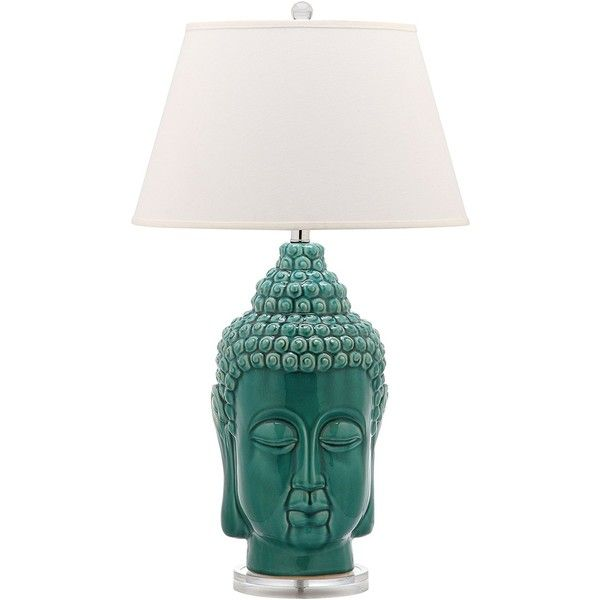 Safavieh Lighting Collection Serenity Buddha Teal 31-inch Table Lamp... (420 BRL) ❤ liked on Polyvore featuring home, lighting, table lamps, safavieh, safavieh lighting, teal blue lamps, twin pack and teal lights