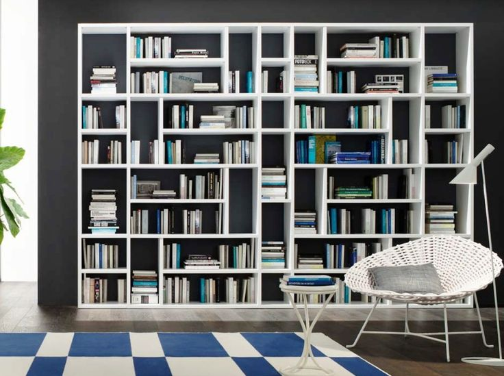 Βιβλιοθήκες έπιπλα :: Βιβλιοθήκες με ξύλο και λάκα :: Βιβλιοθήκη Jass1 - Balton.gr