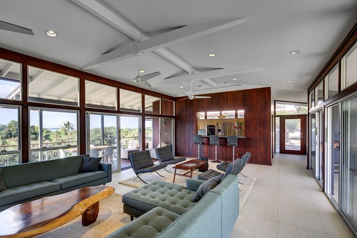 Check out our Torsion Fan in this gorgeous house! Modern Fan Company - Modern Fans - Modern Ceiling Fans - Contemporary Fans