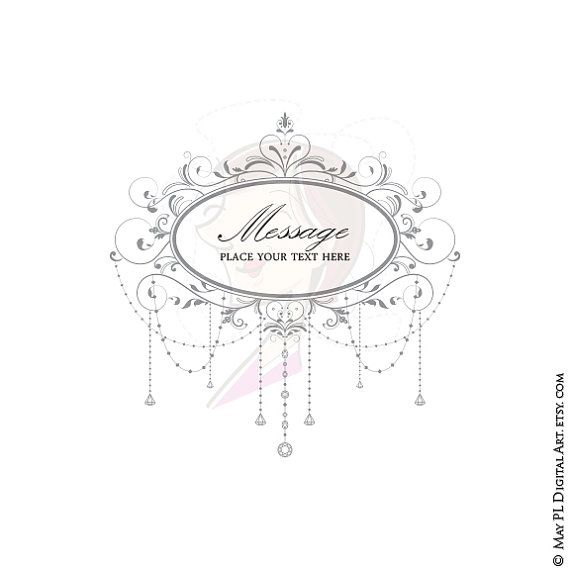 40 best beauty branding images on pinterest retro vintage Crystal Wedding Invitation Frame elegant wedding diy invitations digital frame by maypldigitalart High-End Elegant Wedding Invitations