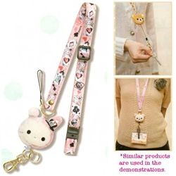 San-X Sentimental Circus Reeled Neck Strap Adjustable Lanyard with Retractable Key Chain