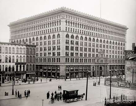 Ellicott Square Building, Buffalo, evidently the largest in the world when built in 1895