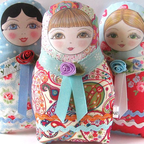 Matryoshka Doll Olga Small size by zouzoudesign on Etsy