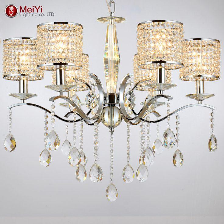 Modern Crystal Chandelier K9 Crystal 110~240V Crystal Chandeliers For Living Room Or Bedroom Lighting Decor Lustre Para Quarto