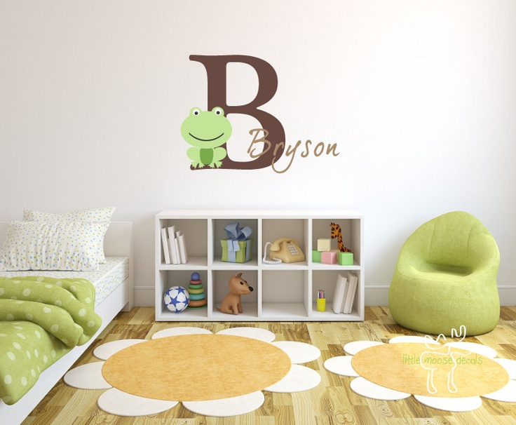 Children Wall Decal Baby Name Monogram Vinyl by LittleMooseDecals, $37.00